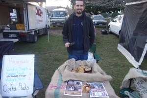 Lars at our market stall